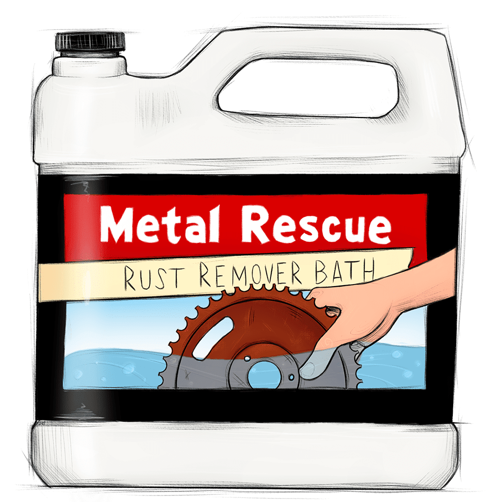 Metal Rescue Rust Remover BATH illustration
