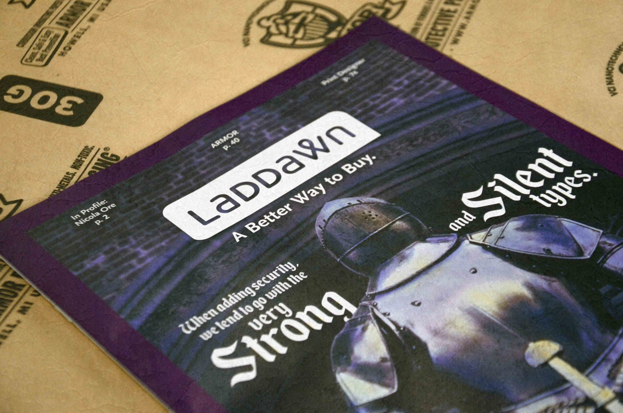 Laddawn Brochure on Armor VCI Paper