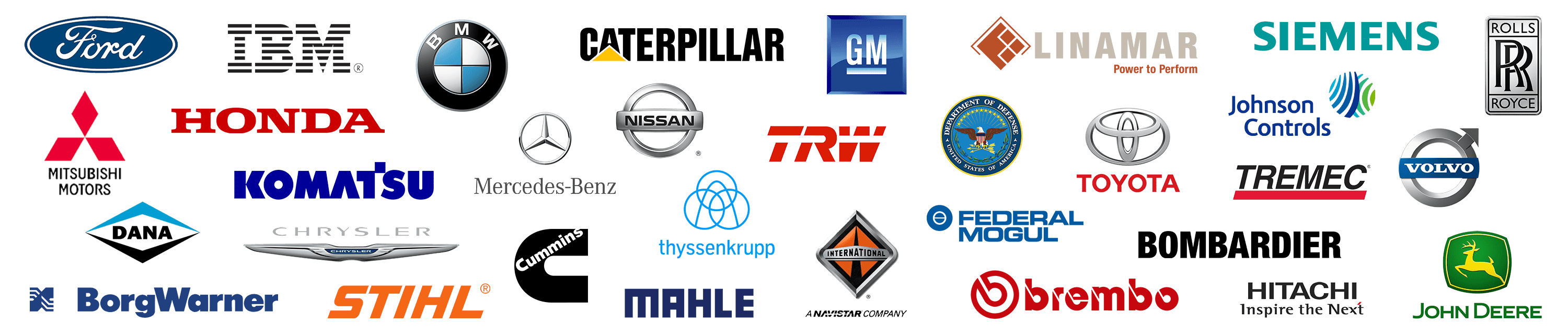 ARMOR products are trusted by a variety of companies - a collection of company logos