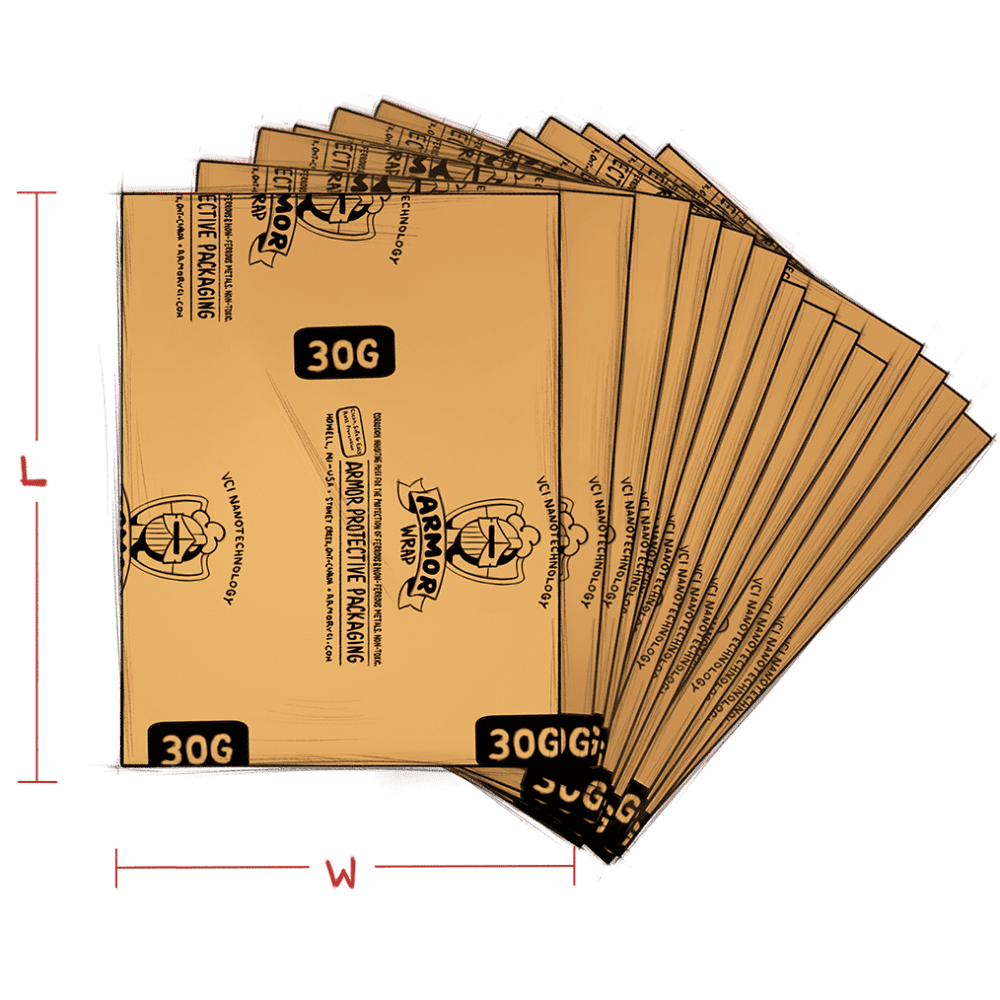 ARMOR Wrap paper fanned (30G) - illustration