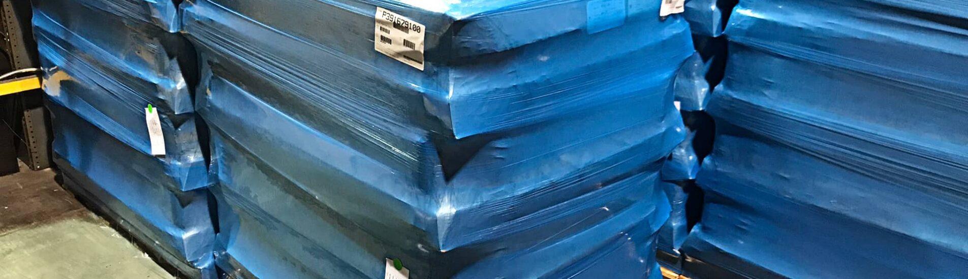 ARMOR POLY Stretch Film wrapped around shipping box