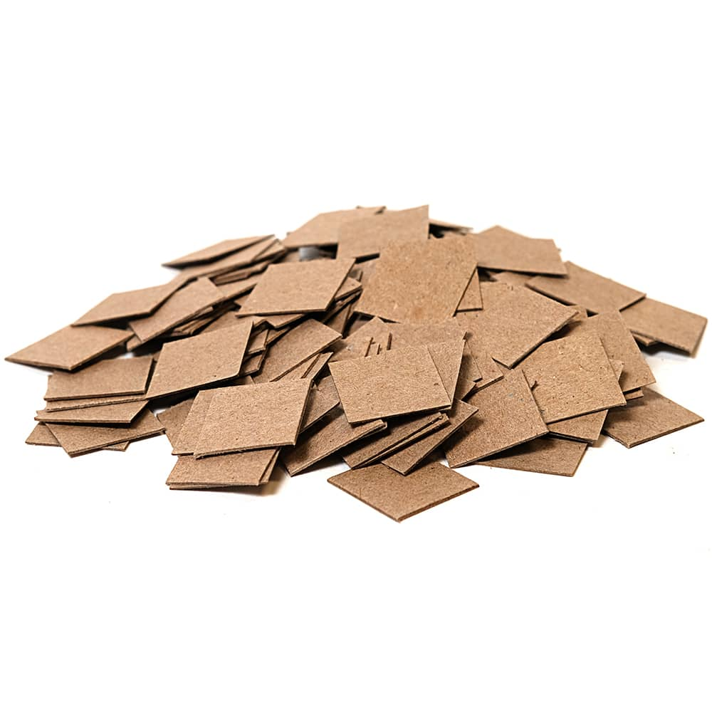 A pile of ARMOR SHIELD Chipboards
