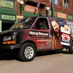 Metal rescue van