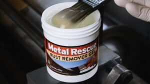 Brushed dipped into Metal Rescue Rust Remover GEL