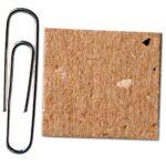 Comparison of ARMOR SHIELD Chipboard to a paper clip