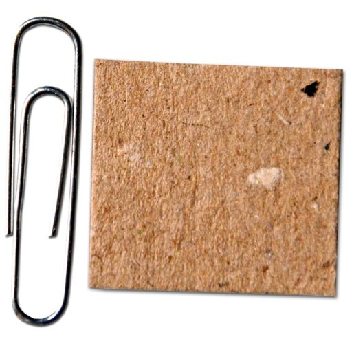 Comparison of ARMOR SHIELD Chipboard to a paper clip