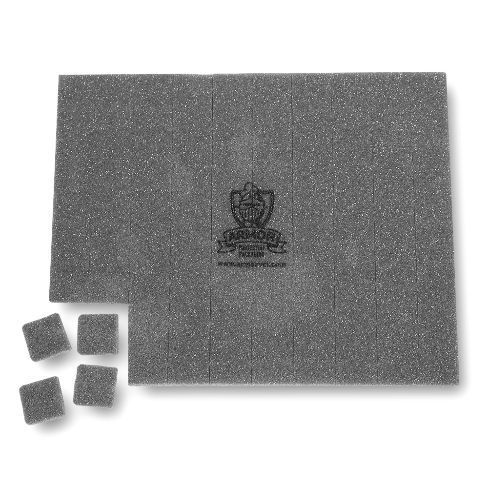 1x1 ARMOR SHIELD perforated foam emitters