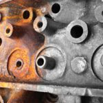 Half-rusted engine head