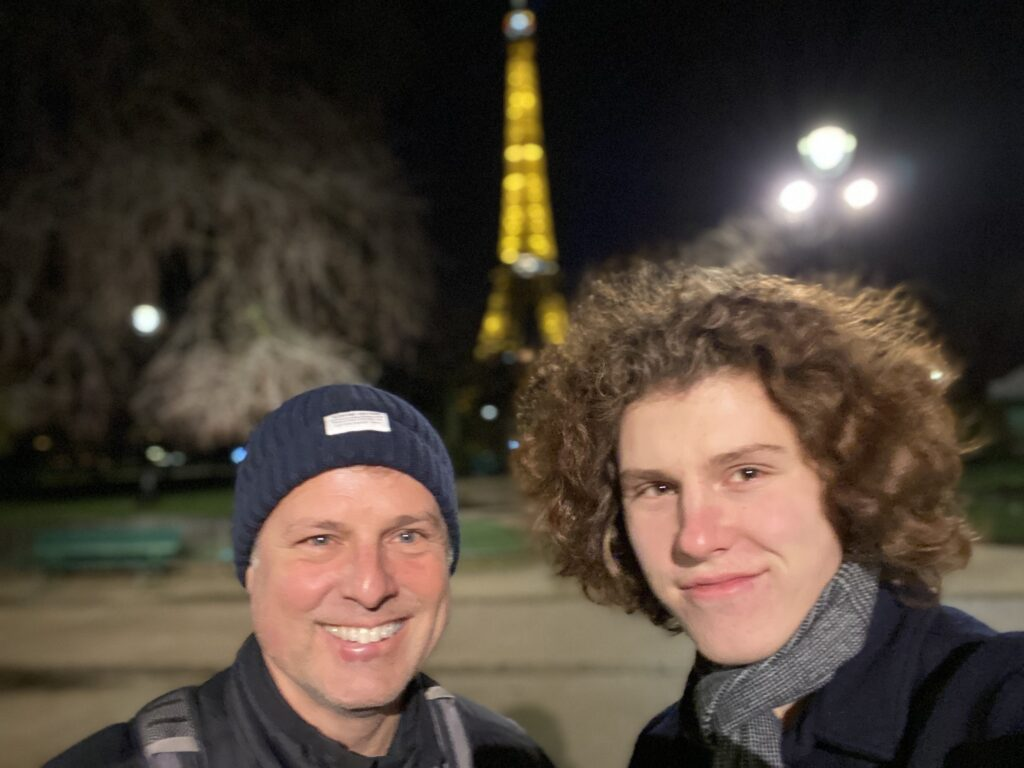Dave Yancho and Son in Paris