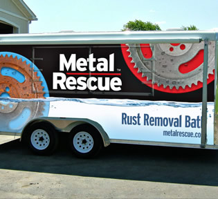 Metal Rescue ad on bus
