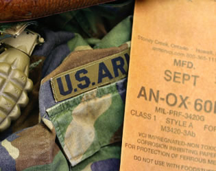 US Army jacket and grenade